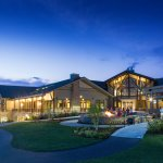 Enjoy an evening outside the Highland Lodge at the fire pit