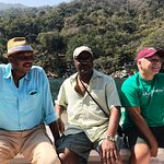 Robert, Willie and Clyde on the Ocean Grill Boat on our way to Ocean Grill Restaurant.