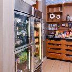 Enjoy a wide selection of beverages and snacks at The Market, available 24 hours a day.