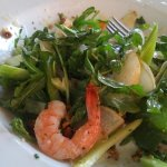 Shaved Fennel Salad with prawn add-on. Ps.The prawns were very tasty - nice texture.