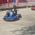 DRIVING HER OWN GO-CART!!