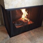 Great fireplace that actually gets warm.