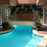 This is our indoor pool area complete with waterfall and kiddie pool next to the Rec. Room