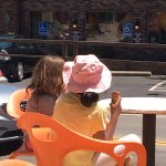 Icecream tastes best in the sunny patio