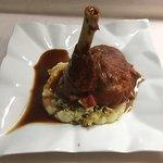 Fabulous food !!!!! Lamb shank and fish mixed grill.