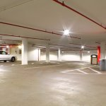 LED lighting has been installed for the brightest underground parking garage in town