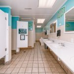 We clean our Bathhouses twice a day and keep cool A/C running all day.