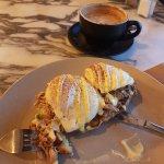 Coco Cubano - Parramatta. Havana Eggs Benedict and Cappucino