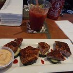 tuna bites -- great happy hour price and my Bloody Mary