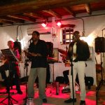 The great Cuban singer Delvis Ramos and his band.
