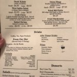Mossy Grove Schoolhouse Restaurant Menu