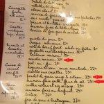 menu (entrées changeantes)