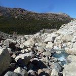 vista del caos de bloques para llegar al glaciar
