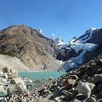 vista de llegada al glaciar
