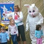 Cindy Cook from Polka Dot Door with Easter Bunny - (Me- Laurie Cook)