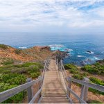View of the Cape Schanck boardwalk and the pebble beach
