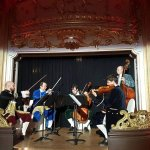 The chamber orchestra : Lovely playing of Mozart.
