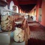 Variedad de dulces a lo largo de todo el portal
