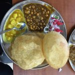 Poori Chole and Aloo Bhajji