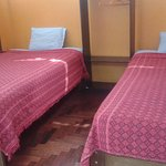 Two single beds with private bathroom, 24 hours Wi-FI