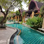 swimming pool and villas with pool access