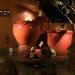 Fountain center of restaurant