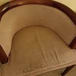 Threadbare chairs in our room