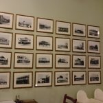 History through photos mounted on the walls