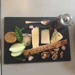 Cheese board dessert.