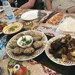 Just a sample of the fabulous Middle Eastern food we enjoyed on our tour with Arva.