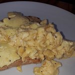 Scrambled egg on toast, excellent