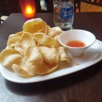Prawn Crackers with Sweet Chili Dip