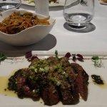 """la viande : """"filet d'Angus.... et son wok de légumes et nouilles """" LA SPECIALITE !"""