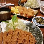 Tonkatsu and ebi fry