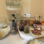 Teil des Frühstücksbuffet