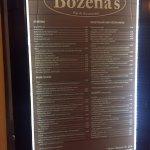 Bozena menu.....