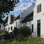 Church Street with Fynbos Heritage Rooms in old Cape Dutch style buildings.