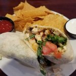 Chicken Fajita Wrap: Ginormous and loaded with chicken. Cheesy good, but would've liked kick of