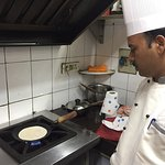 We took an Indian cooking class at the hotel hosted by Chef Narendra in the real kitchen where f