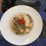 Tagliatelle with chicken and mushrooms