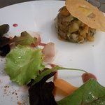 Persillé de lapin, légumes acidulés et croustillant de curcuma