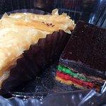 Baklava and rainbow cookie - yum!