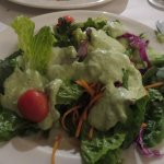 House salad with green garlic ranch dressing