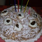 Torta Mont Blanc.  Squisitezza pura.
