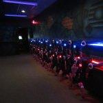 laser tag vesting room