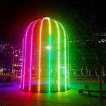 Kings Cross Rainbow Cage via Kings Boulevard, well worth seeing