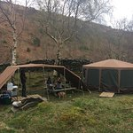 Tommy yurt and food prep area