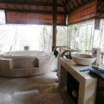 Outside bathroom with Jacuzzi