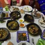 5 main course tagines ranging from beef (including delicious beef calf muscle) to lamb to goat