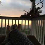 watching sunset from the lanai